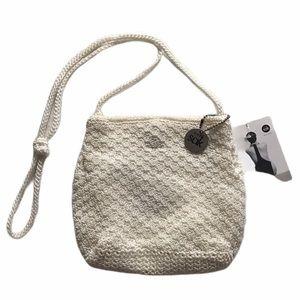 The Sak Small White Shoulder Bag NWT